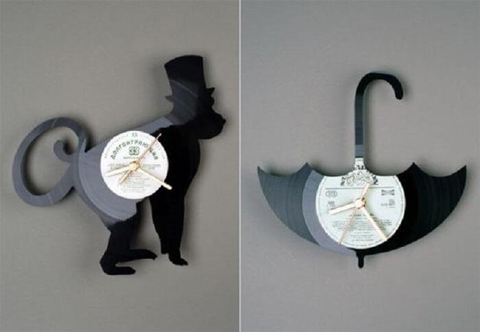 Relógio de parede com design engenhoso