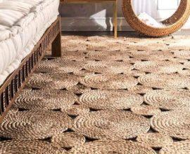 Tapete sisal com design criativo encanta a decoração do ambiente