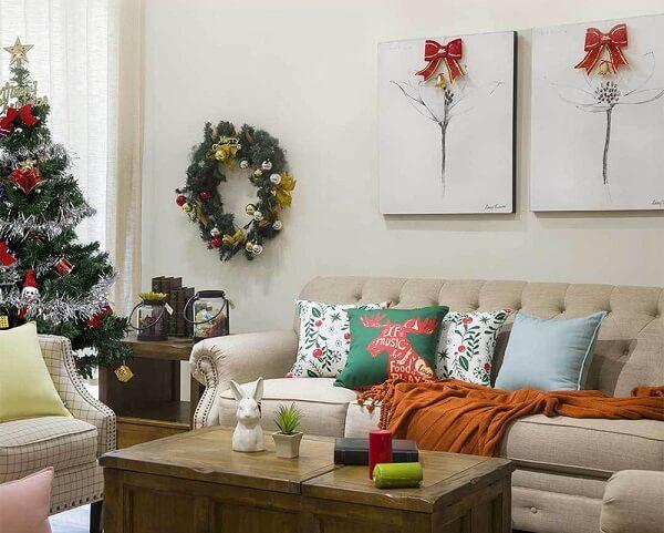 Conjuntos de almofadas de Natal estampadas