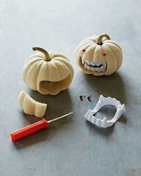 abóboras enfeitadas para halloween