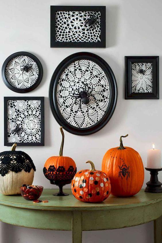 abóboras na decoração de halloween
