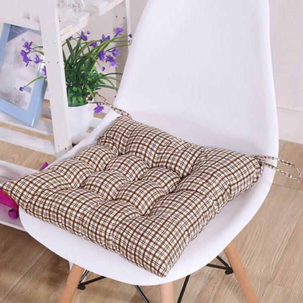 Almofada para assento de cadeira com estampa