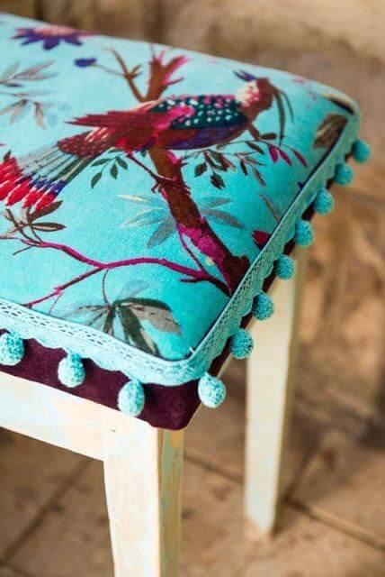 tecido da almofada para cadeira