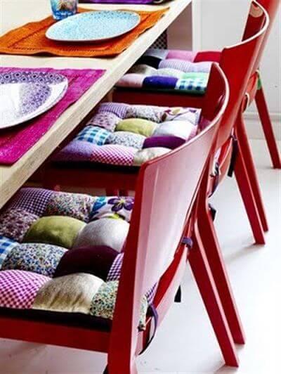 almofada para cadeira de cozinha