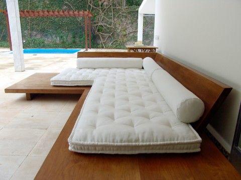 Almofada para cadeira estilo sofá de canto