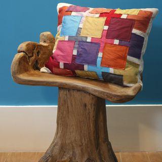 Almofada para cadeira rústica