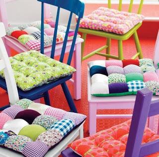 Almofada para cadeira de patchwork