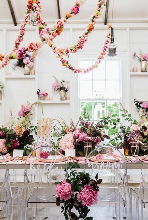 arranjo de flores para mini wedding em casa Foto DoDoWed