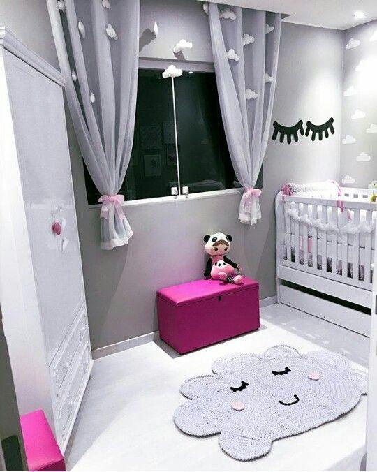 baú - baú para brinquedos de couro rosa e piso branco
