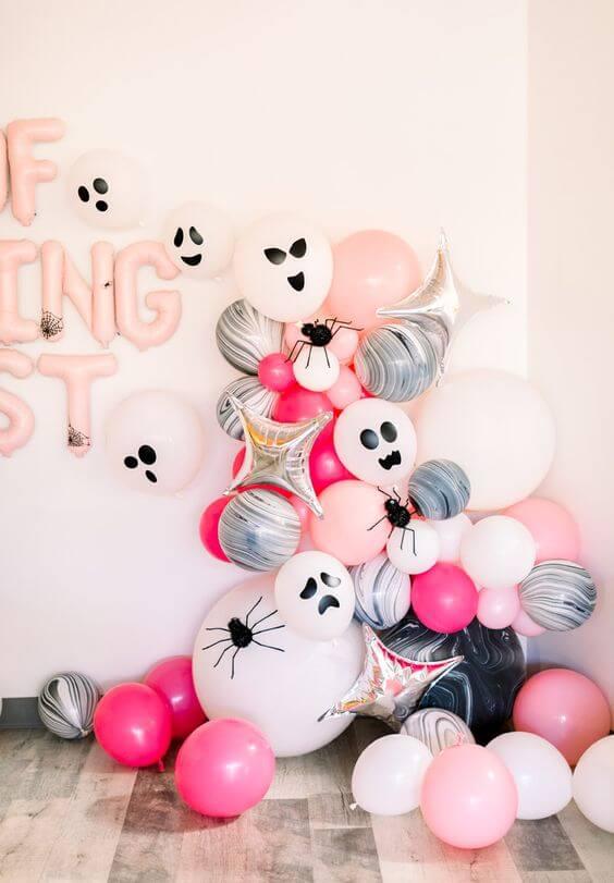 Balões personalizados para festa de halloween
