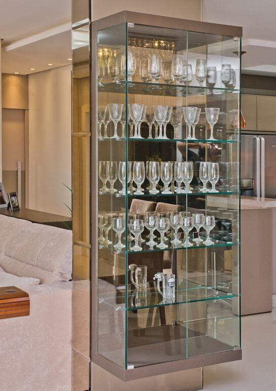 barzinho de canto de vidro