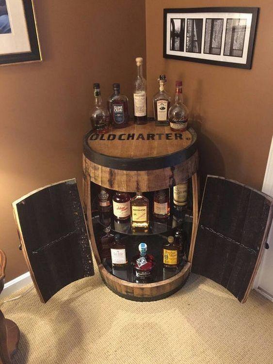 barzinho de canto de madeira