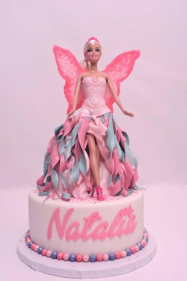 Bolo de festa da barbie fada