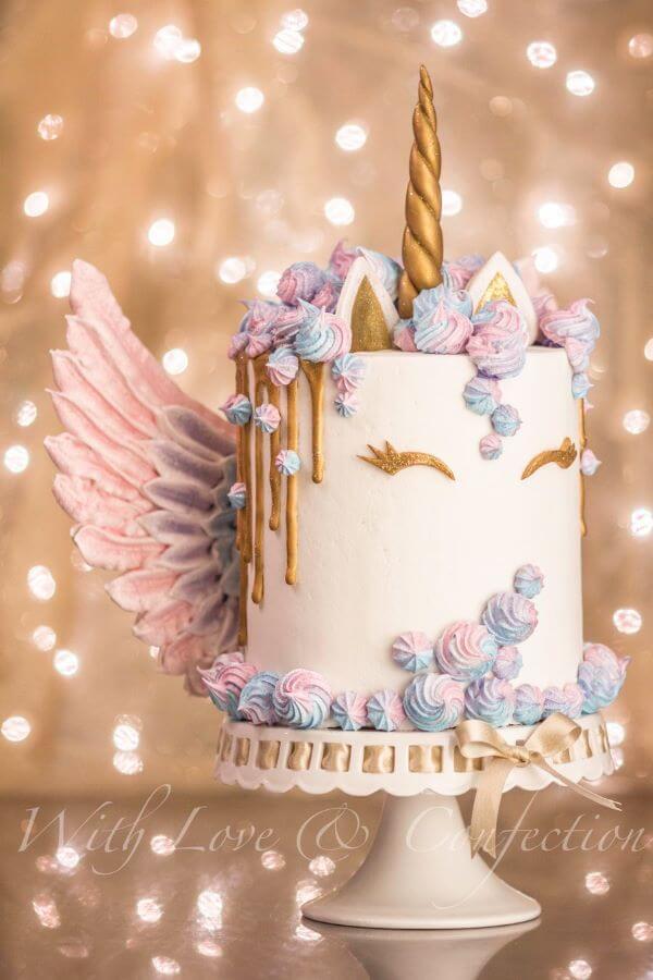 Bolo de aniversário unicórnio