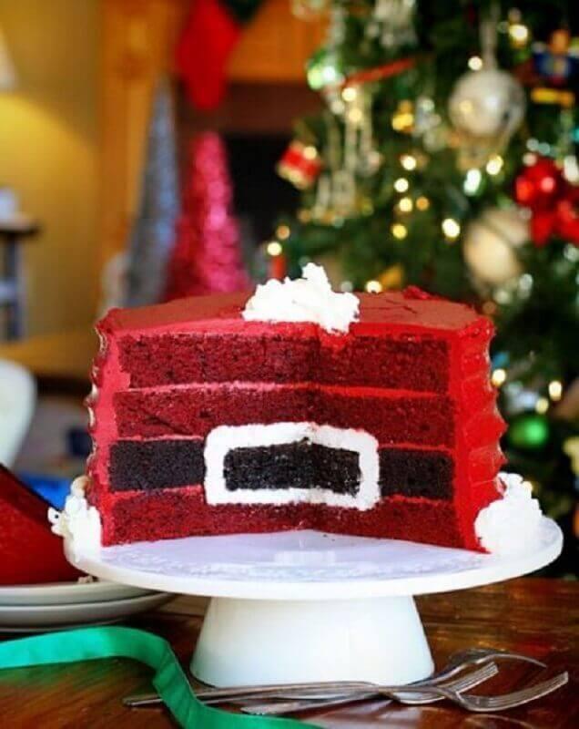 bolo de natal decorado por dentro Foto Live It Beautiful