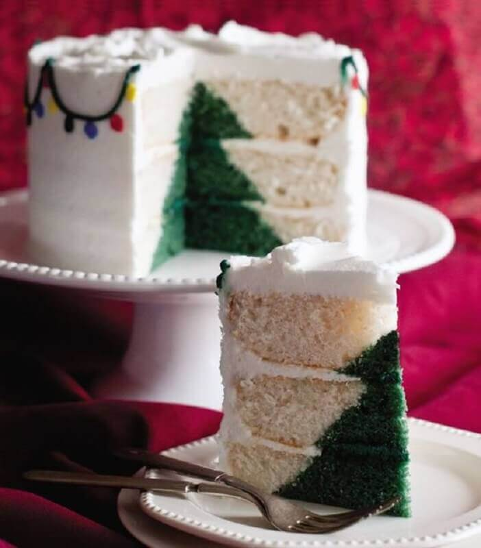bolo de natal decorado por dentro com árvore de natal Foto Cake Decorating Tutorials
