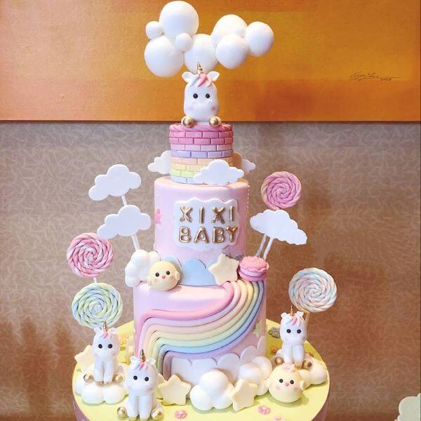 bolo de unicórnio para aniversário