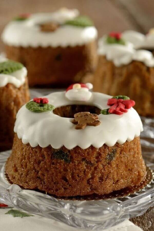 bolo decorado de natal simples Foto Vamos Receber