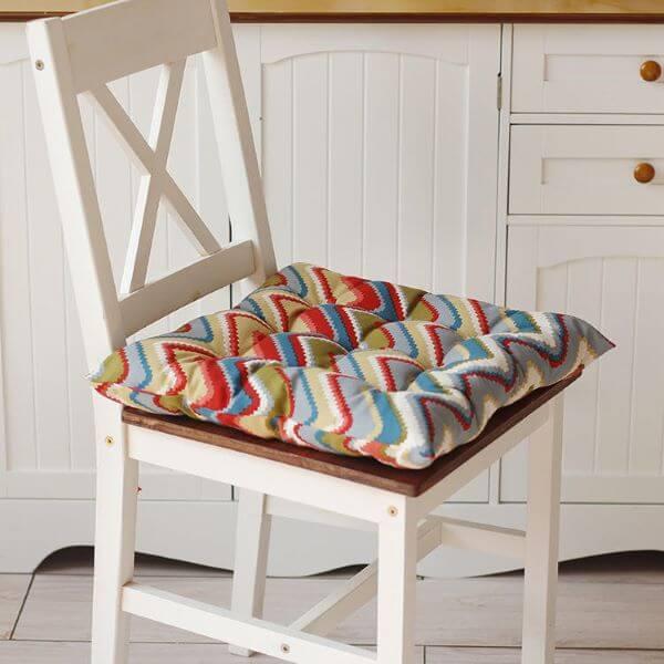 almofada para cadeira estampada