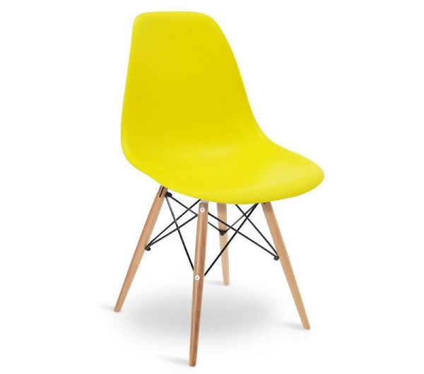 Modelo de cadeira eiffel amarela