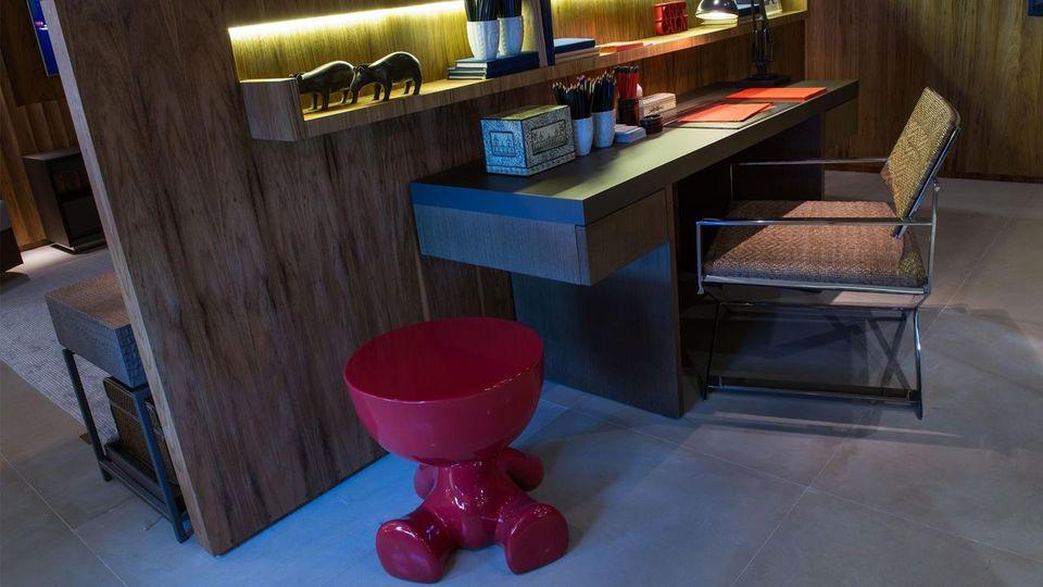 cadeira para escrivaninha - home office com banqueta vinho