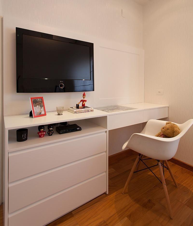 cadeira para escrivaninha - home office com cadeira branca