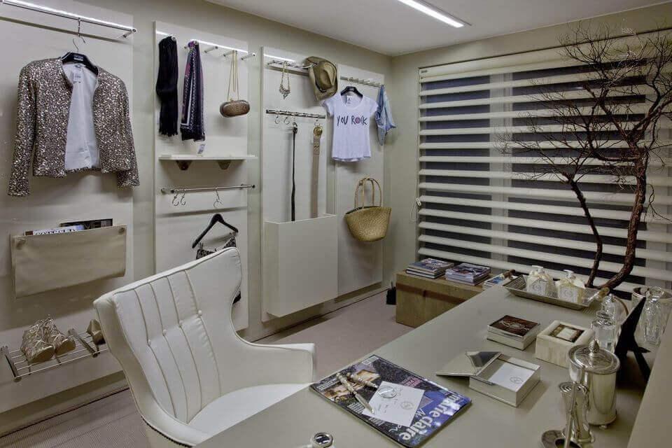 cadeira para escrivaninha - home office com cadeira estofada branca