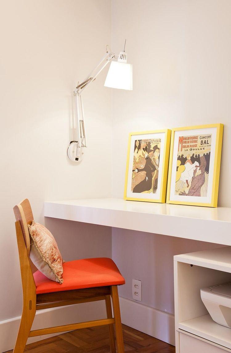 cadeira para escrivaninha - home office com luminária