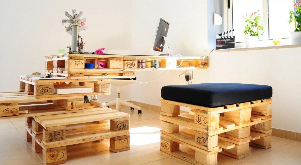 cadeira para escrivaninha - home office com mesa e cadeira reciclável