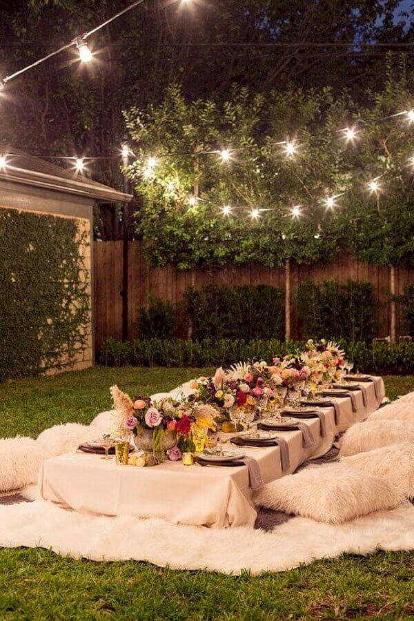 casamento mini wedding ao ar livre com decoração simples Foto 33Decor