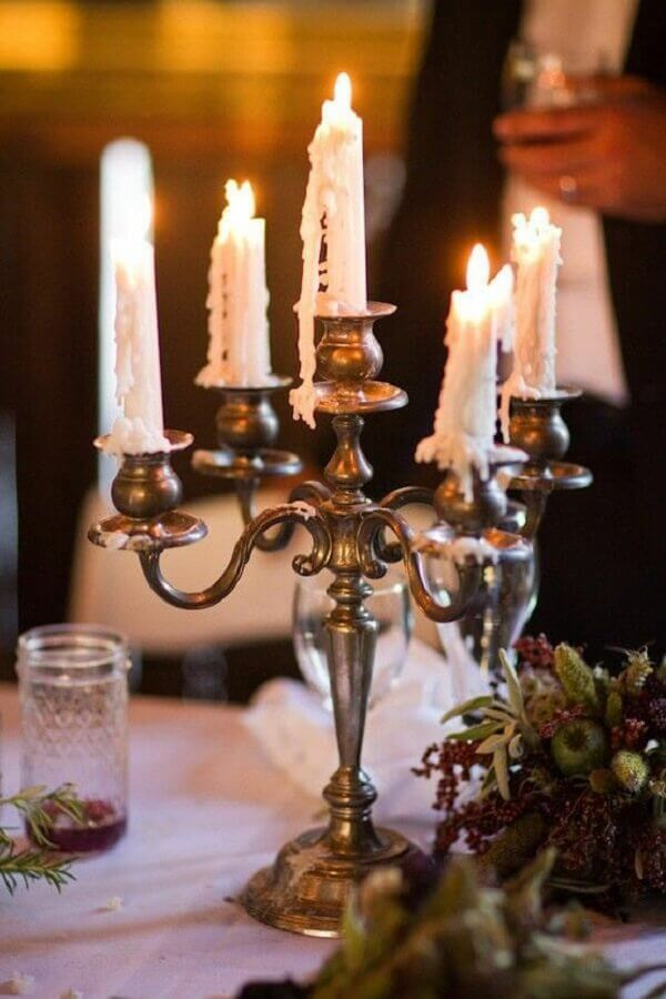 castiçal de ferro candelabro Foto Happy at Home