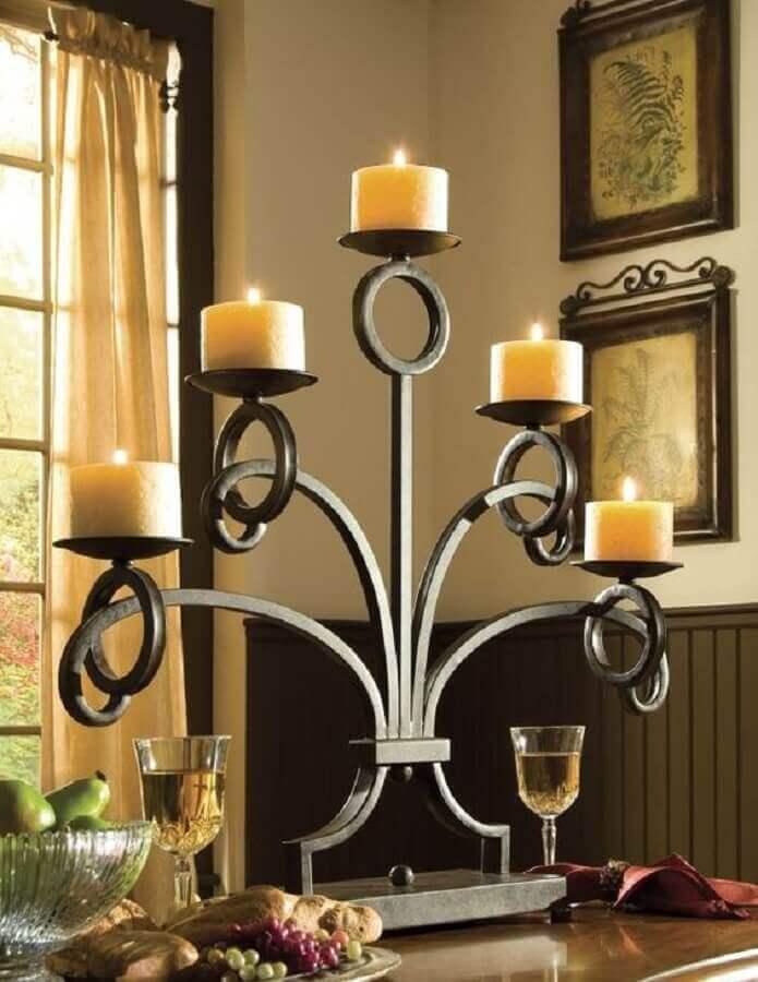 castiçal de ferro candelabro Foto Pinterest