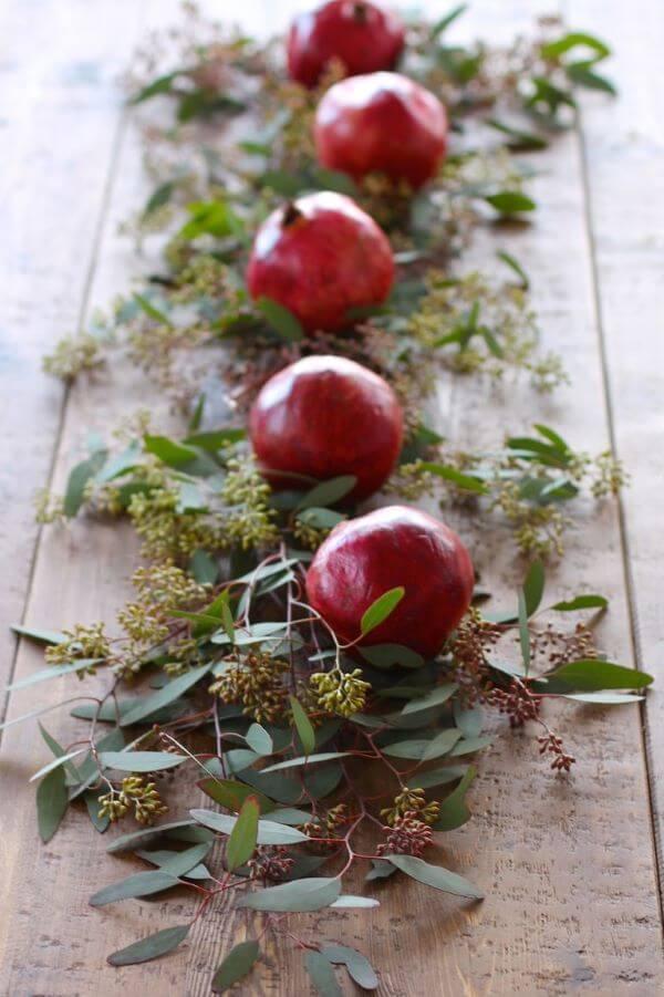 centro de mesa com frutas