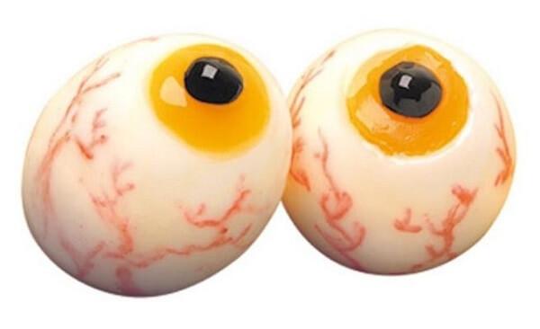 Olhos esbugalhados feitos com olho