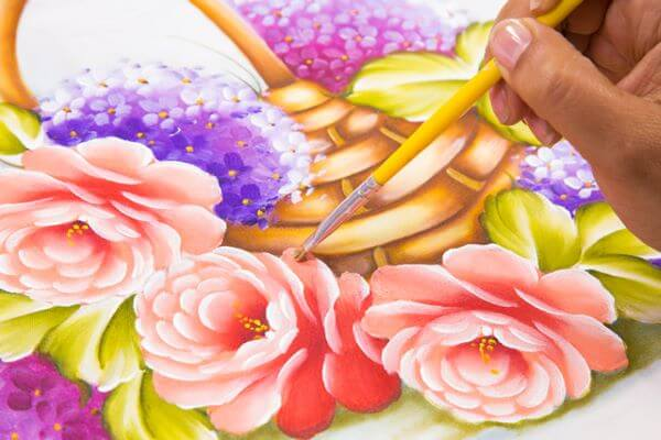 pintura de pano de prato
