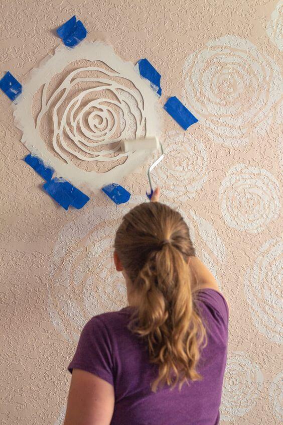 como fazer stencil para parede
