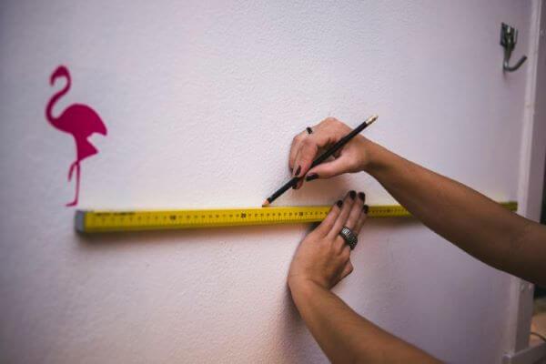 como fazer stencil para pintura de parede