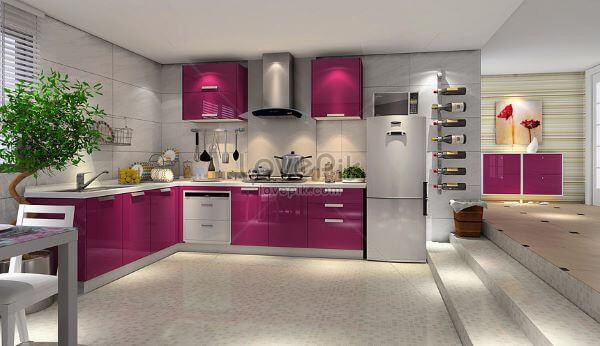 Cozinha fúcsia