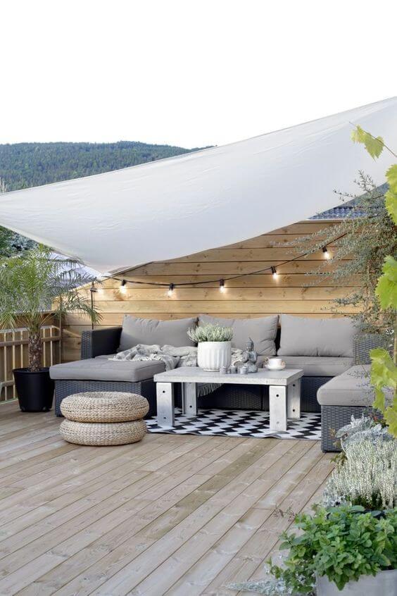 piso para quintal com madeira