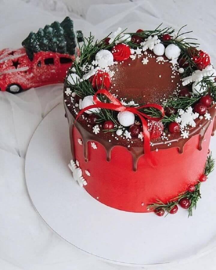 decoração clássica para bolo de natal Foto Bride and Tonic