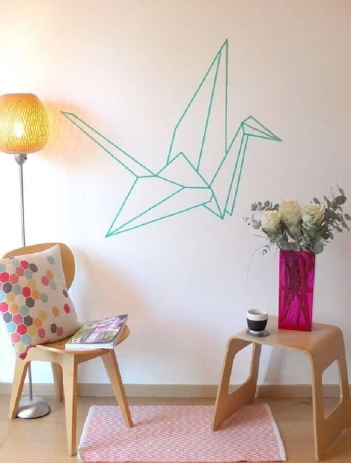 decoração colorida com fita isolante Foto Be Frenchie