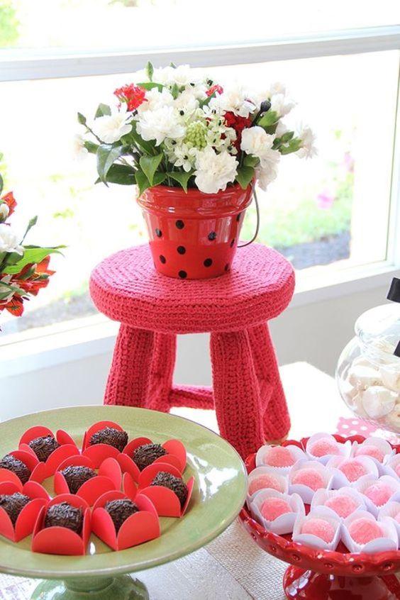 decoração de festa da ladybug