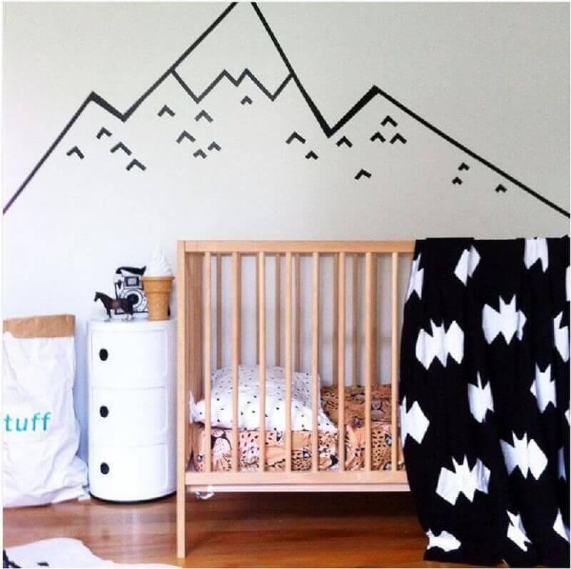 decoração com fita isolante para quarto de bebê Foto Casa e Festa