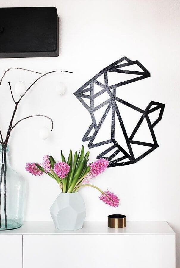 decoração com fita isolante preta Foto Dolce Casa Studio