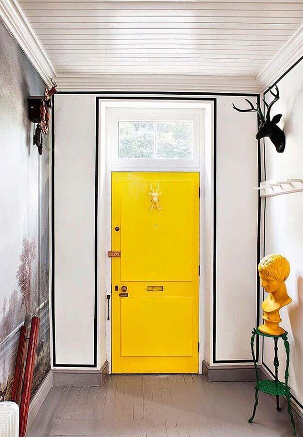 decoração com fita isolante preta para hall de entrada Foto Pinosy