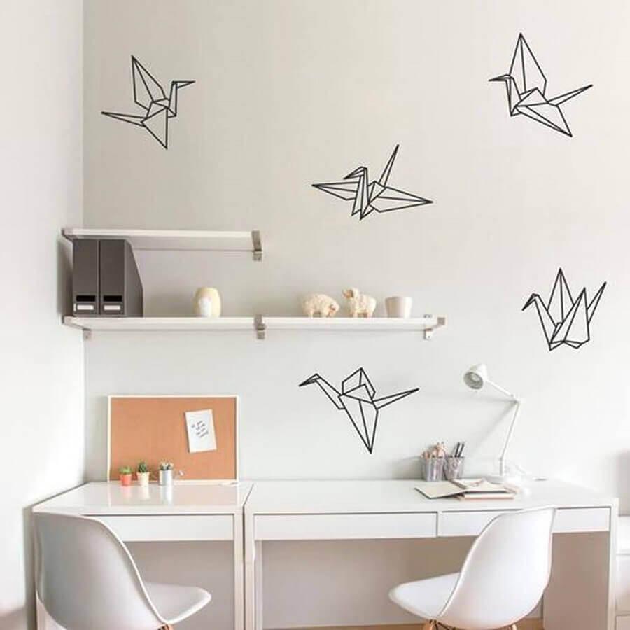 decoração com fita isolante preta para home office Foto We Heart It