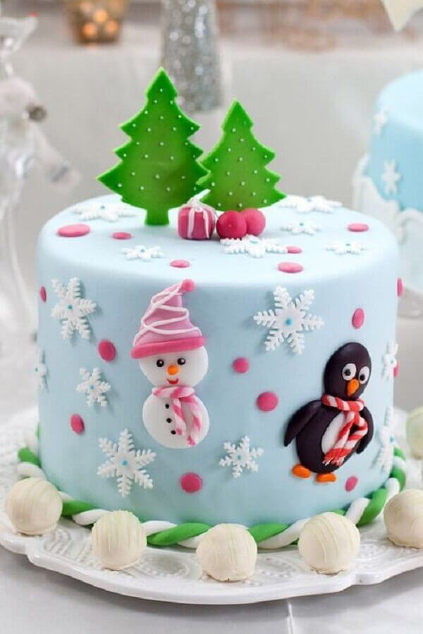 children's christmas cake decoration with american paste Foto Pinterest