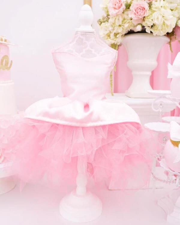 Decoração de festa da barbie bailarina
