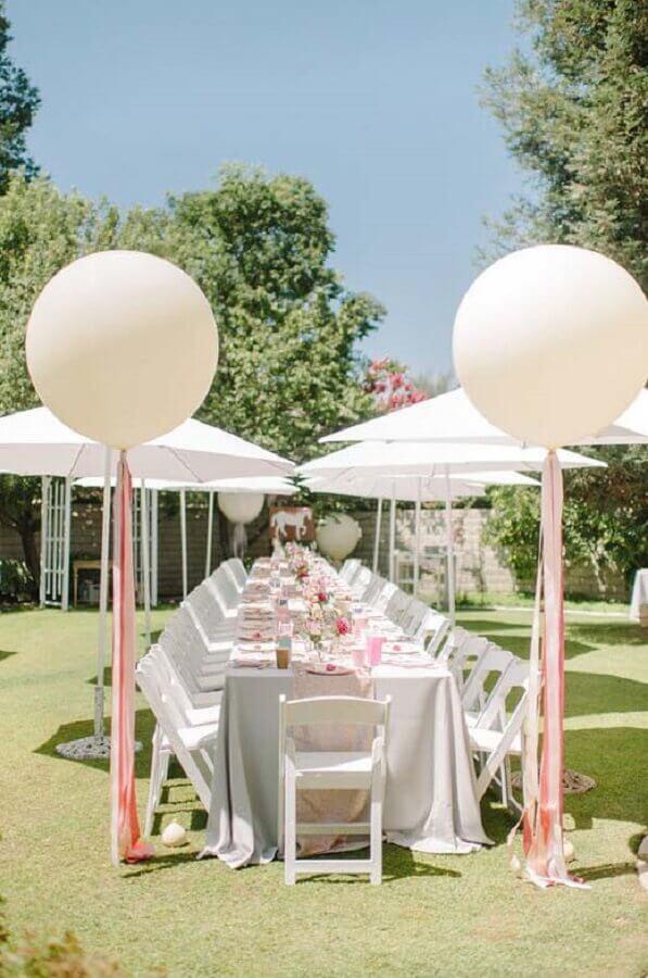 decoração de mini wedding ao ar livre Foto Pinterest