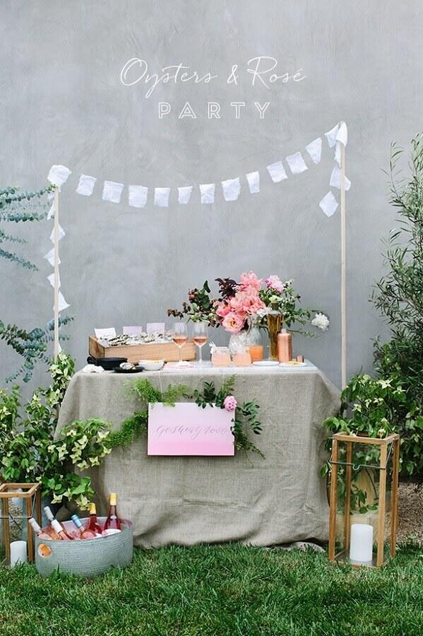 decoração de mini wedding rústico ao ar livre Foto Pinterest